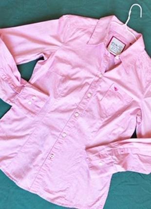 Розовая классическая рубашка esprit