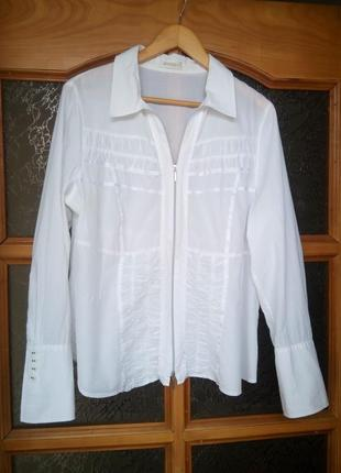 Нежная батистовая рубашка на невысокую девушку 52-54р.
