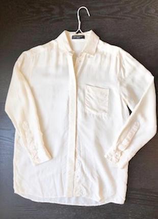 Нарядная шелковая блузка bzr