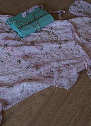 Платье миди с воланами от new look