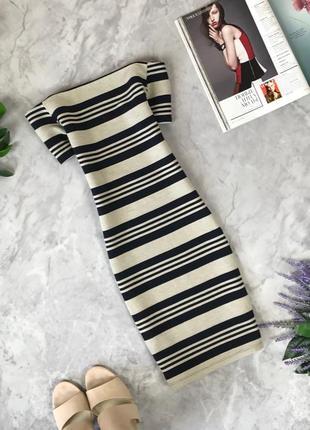 Аккуратное платье по фигуре в полоску  dr1920057  topshop