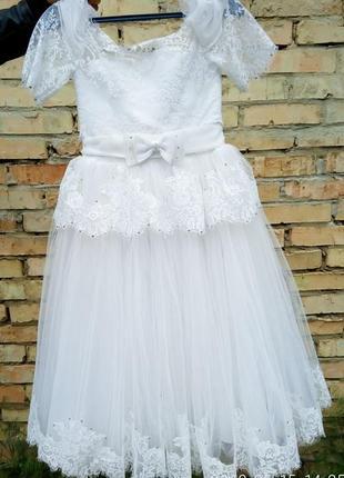 Шикарное, выпускное, бальное, пышное платье для принцесы