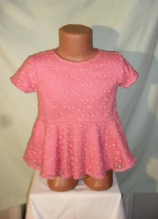 Кружевная блузка на 3-4годика