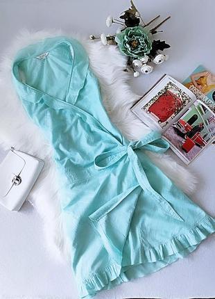 Роскошное мятное платье на запах от kookai
