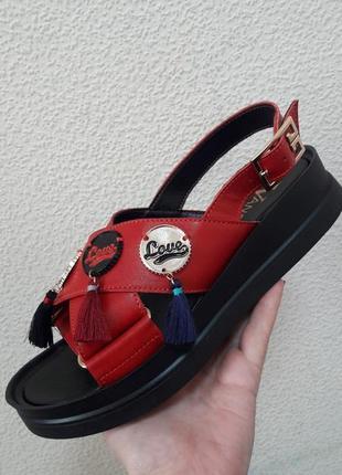 Удобные кожаные босоножки, сандалии