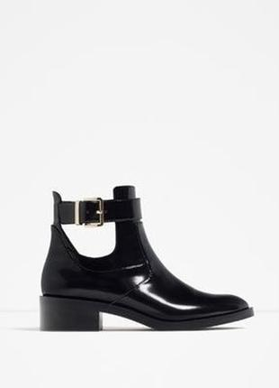 Ботинки черевички туфли zara з пряжкой