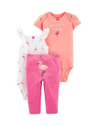 Carter's комплект с фламинго