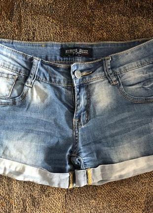 Шикарные синие женские джинсовые шорты