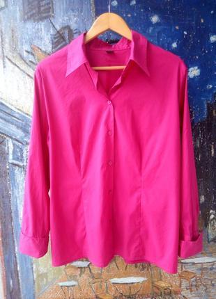 Рубашка красивого приглушенного вишневого цвета 54-56р.