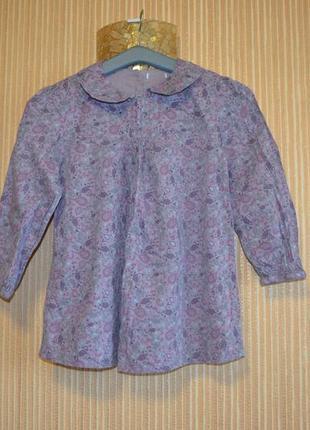 11-13 лет. блуза свободного кроя для девочки. производитель бангладеш