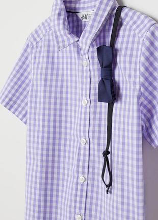 Стильный комплект рубашка бабочка 122, 128 h&m