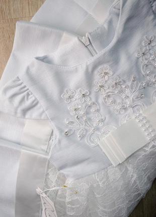 Дуже гарне, вишукане плаття з коротким рукавом в бусинки
