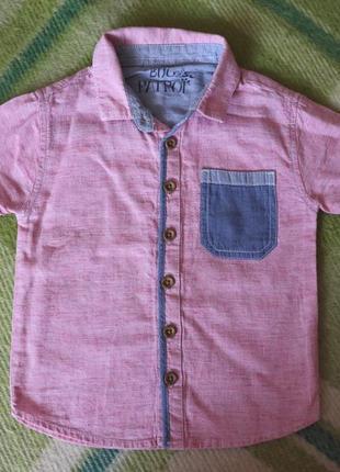 Рубашки мальчику 1-2 года