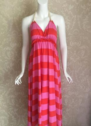 H&m летнее платье сарафан в полоску новое
