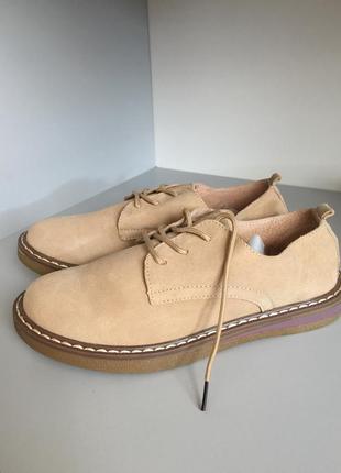 Кожаные женские туфли5 фото