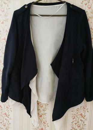 Пиджак жакет кардиган с блузой-обманкой