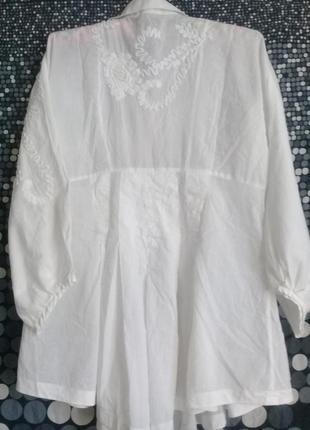 Дизайнерская блуза вышивка р. 46 от didier parakian2 фото