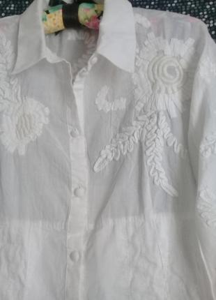 Дизайнерская блуза вышивка р. 46 от didier parakian3 фото