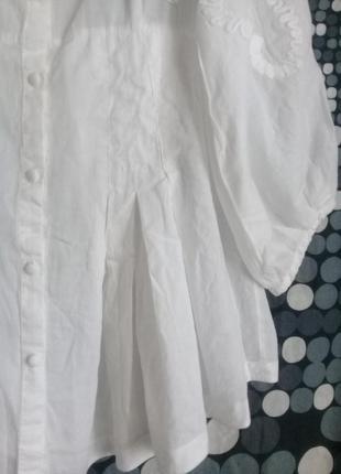Дизайнерская блуза вышивка р. 46 от didier parakian4 фото