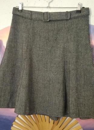 Серая твидовая юбка