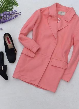 Удлинённое весеннее пальто летний удлинённый пиджак бойфренд от zara
