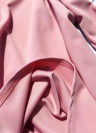 Невероятное премиум платье блейзер жакет пиджак пыльная роза xs-s prettylittlething5 фото
