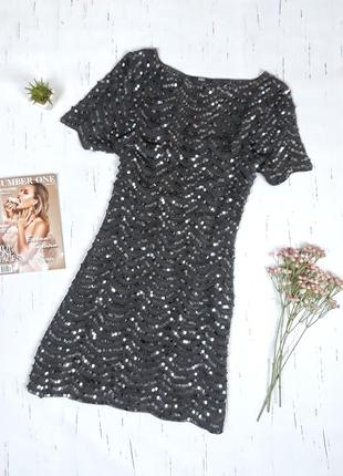Эксклюзивное вечернее платье с пайетками от marks&spenser / uk16