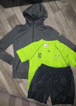 Оригинал спортивный костюм тройка с шортами adidas  messi р. 160см 13-14лет
