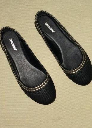Легкие летние туфли  без каблука  балетки