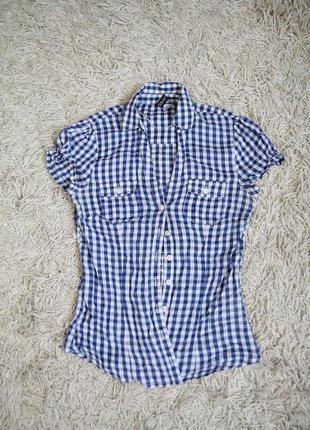 Акция 2=3 блуза рубашка в клетку в ковбойском техаском стиле h&m