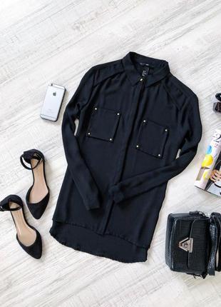 fc9676d3fb1 Чёрная блуза с карманами hm H M