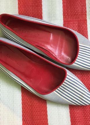 c6e92829f Шикарные кожаные люксовые туфли/балетки в полоску l.k. bennett /италия