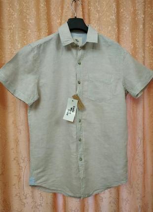 Красивая льняная рубашка cedar wood state