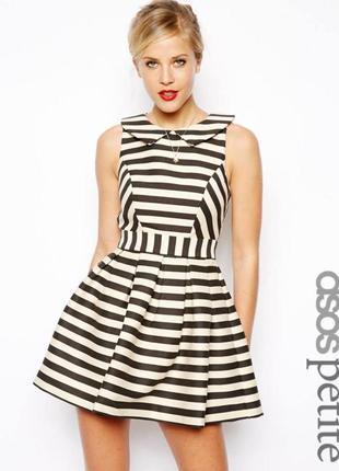 Платье asos с открытой спиной в полоску