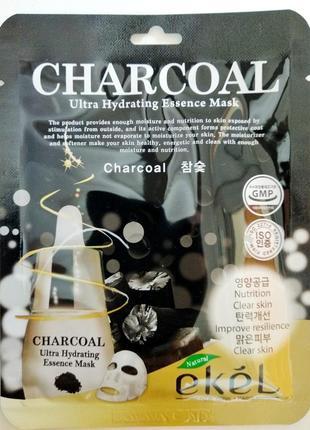 Elel тканевая маска esensse mask charcoal 25мл +18