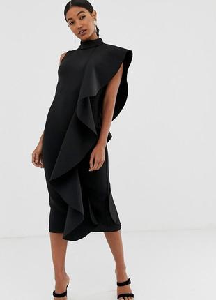 Lavish alice неймовірна чорна сукня з воланом