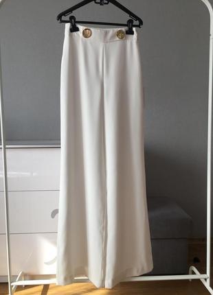 679030e412a Белые брюки трубы клёши zara на длинные ножки ZARA