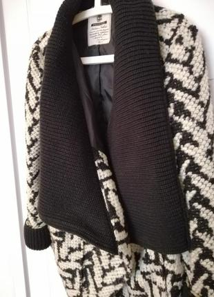 Вязаное пальто oversize