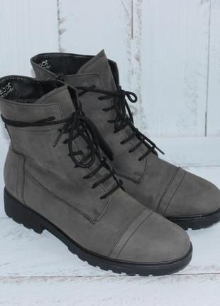 Gabor comfort кожаные ботинки на утеплителе сапожки деми