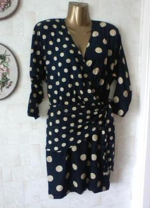 Шелковое винтажное платье, шелк, от люкс бренда-louis feraud, разм.44