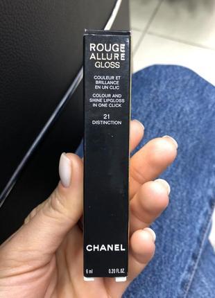 Блеск для губ chanel rouge allure gloss 21 оригинал