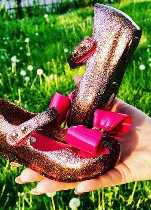 Яркие малиновые туфельки mini melissa 13см {21размер}