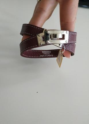Кожаный стильнячий браслет