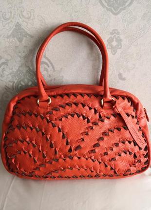 Шикарная большая оригинальная кожаная сумка vanda francis