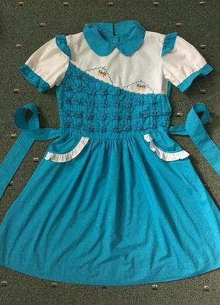Красивое яркое платьице на лето размер 72-140