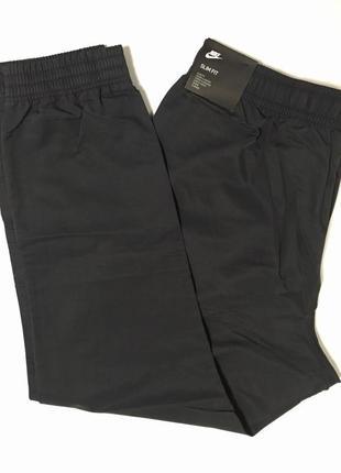 Черные мужские брюки джоггеры nike, 62% cotton, оригинал