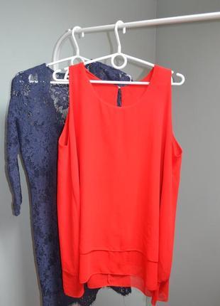 Яркая блуза-туника свободного кроя
