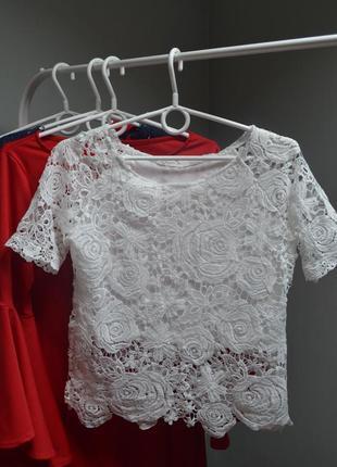 Кружевная блуза-топ ручная работа