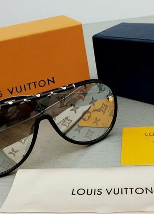 Louis vuitton очки женские солнцезащитные зеркальные с логотипом на линзах