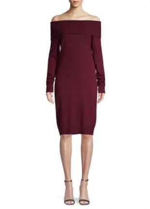 Бордовое шерстяное платье saks fifth avenue
